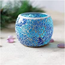 Candle Holders Mosaic Glass Candle Holder Crystal Candle Holders (Color : 10)