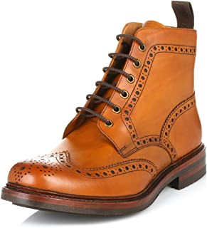 Loake Mens Bedale Tan Leather Boots 9.5 US