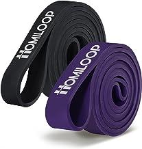 HOMILOOP Pull up Assist Bands,Latex Resistance Band Loop voor krachttraining,Home Gym apparatuur voor mannen en vrouwen-Me...