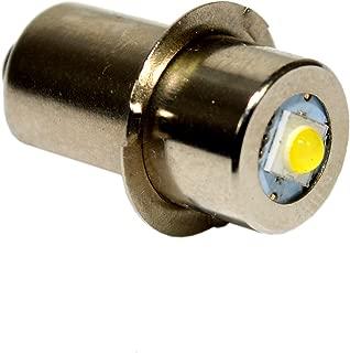 HQRP High Power Upgrade Bulb 3W LED 100LM 7-30V for Makita BML185 BML185W ML140 ML141 ML142 ML143 ML183 ML184 Flashlight A-94502 A94502 Coaster
