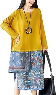 YESNO LA7 Women Casual Loose Plus Size Hooded Fleece Jacket Floral Winter Warm Overcoat Full Zip/Pockets