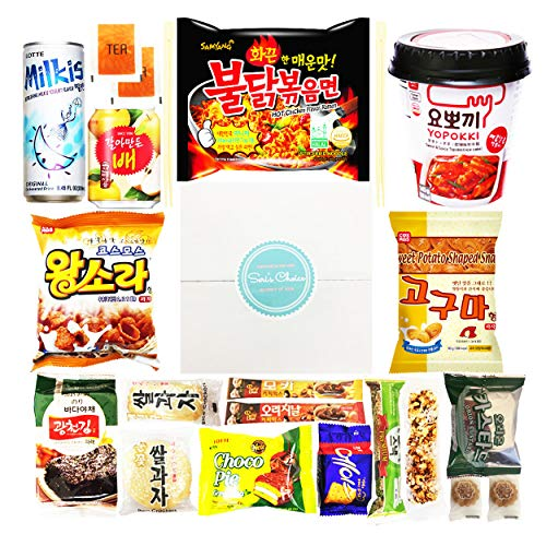Journey of Asia 'Seri's Choice KOREAN Snack' Box 20 Count Individual Wrapped Packs of Coffee, Snacks, Chips, Cookies, Noodle and Drink, Treats for Kids, Children, College Students, Adult and Senior