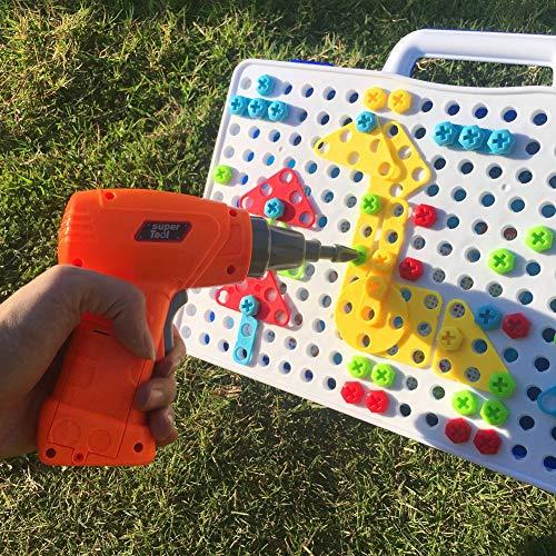 DishyKooker kinderen DIY puzzel kinderen boormachine montage speelgoed Intellectuele ontwikkeling handmatige bouwstenen