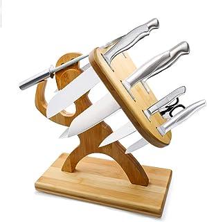 Bloque De Cuchillo Magnético, Soporte De Madera, Modelado Creativo De Guerreros, Multifuncional Porta Tijeras, Organizador De Cocina, Regalo De Cocina (Cuchillos No Incluidos)