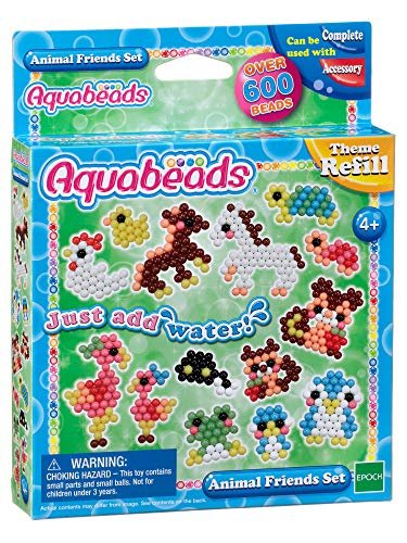 Aquabeads 79298 Animal Friends Set, Mehrfarbig