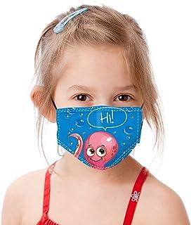 Padaleks Kids Cute Cartoon Face Madk Adjustable Earloops Filter Washable and Reusable Novelty Bandana for Boys Girls