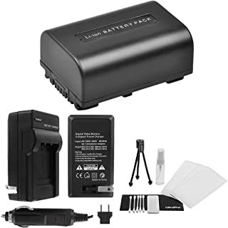 NP-FV50 High-Capacity Replacement Battery with Rapid Travel Charger for Select Sony Camcorders. UltraPro Bundle Includes: Camera Cleaning Kit, Screen Protector, Mini Travel Tripod