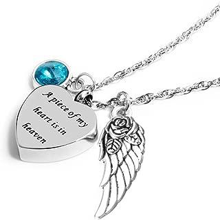 Best half my heart is in heaven necklace Reviews