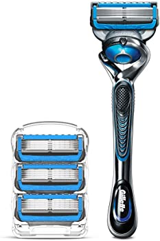 Gillette Fusion5 Proshield Chill Men's Razor Handle + 4 Blade Refills