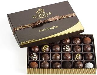 GODIVA Chocolatier Assorted Truffles Gift Box 24 Piece Dark Chocolate