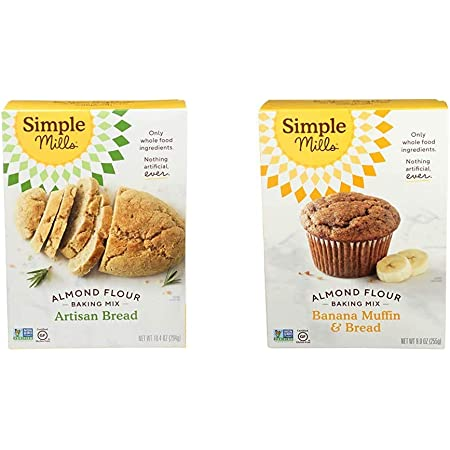 Amazon Com Simple Mills Almond Flour Baking Mix Gluten Free Artisan Bread Mix Almond Flour Baking Mix Gluten Free Banana Bread Mix Muffin Pan Ready Made With Whole Foods Packaging May