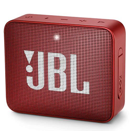 JBL GO 2 Portable Bluetooth Waterproof Speaker (Red) (Renewed)