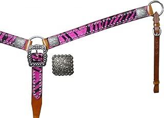 pink zebra breast collar