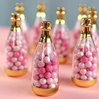 Kate Aspen 18187GD Metallic Champagne Bottle Container (Set of 12) DIY Favor, One Size, Clear, Gold