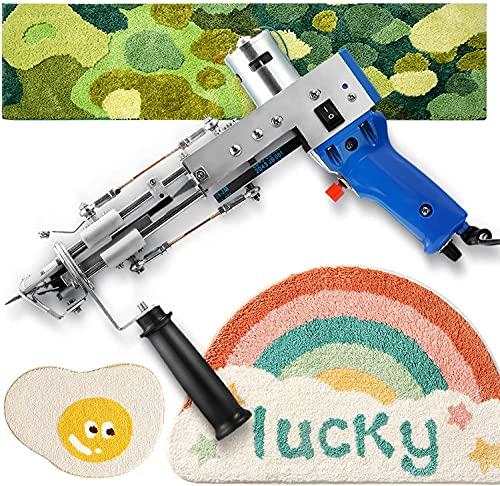 S SMAUTOP Tufting Gun, Cut Pile Rug Tufting Gun 5-40 Schritte/s,Cut Pile Knitting Machine Home DIY Werkzeuge für Hochgeschwindigkeits-Beflockungsmaschine (Cut Pile)