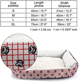 MHGStore Pet Dog Bed Sofa Big Dog Bed for Small Medium Large Dog Mats Bench Lounger