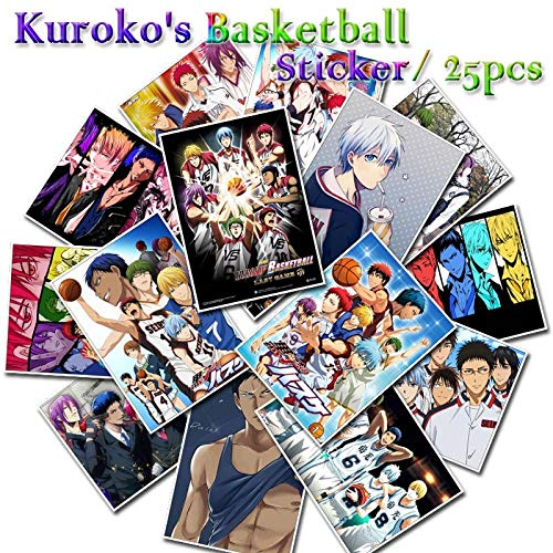 25 Pcs Kuroko's Basketball Stickers for Waterproof Sticker Motorcycle Bike Laptop Skateboard Ipad Phone Cartoon Anime Stickers