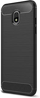 For Galaxy J730 J7Pro (2017) Case, Ultra-thin Brushed Carbon Fiber Slim Armor Soft TPU Phone Back Full Cover Case For Samsung Galaxy J730 (2017) / J7 Pro (2017) (Black)