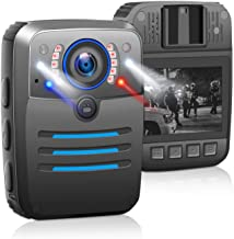 Sponsored Ad - 1296P HD Body Worn Camera, Police Body Mounted Video Cameras with Audio Wearable Camera Law Enforcement Rec...