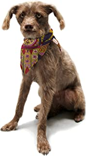 "Kess InHouse Jane Smith""Indian Jewelry"" Purple Yellow Pet Bandana and Scarf, 28 by 20 by 20-Inch"