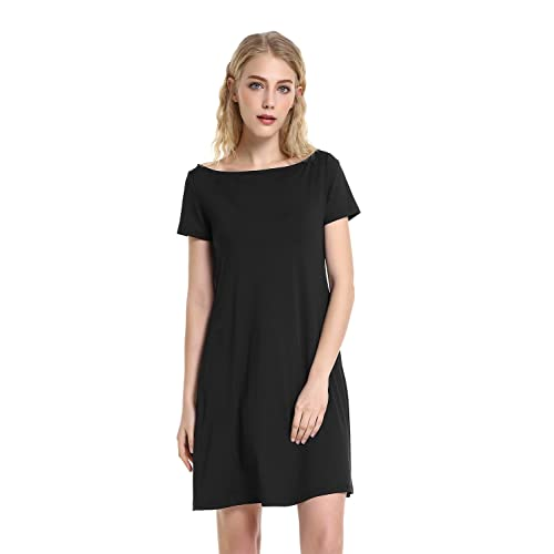 83bab8a928180 STYLE Womens Short Sleeve Loose Casual T-Shirt Dress Casual Swing T-