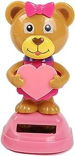 Solar Dancing Animal Toy, Solar-Powered Swinging Animal Bobble Head Animated Bobble Dancer Owl Dog Bear Figure Ornament fo...
