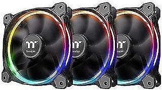 Thermaltake Ring 12 LED RGB Radiator Fan Sync Edition (3-Fan Pack) CL-F071-PL12SW-A, Black
