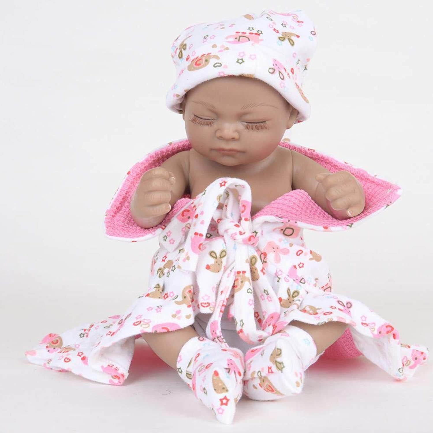 Hongge Reborn babies Lifelike silicone Reborn doll toy looks real newborn baby doll toy Gift 28cm