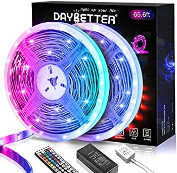 65.6ft Daybetter RGB Color Changing Smart LED Strip Lights with Remote