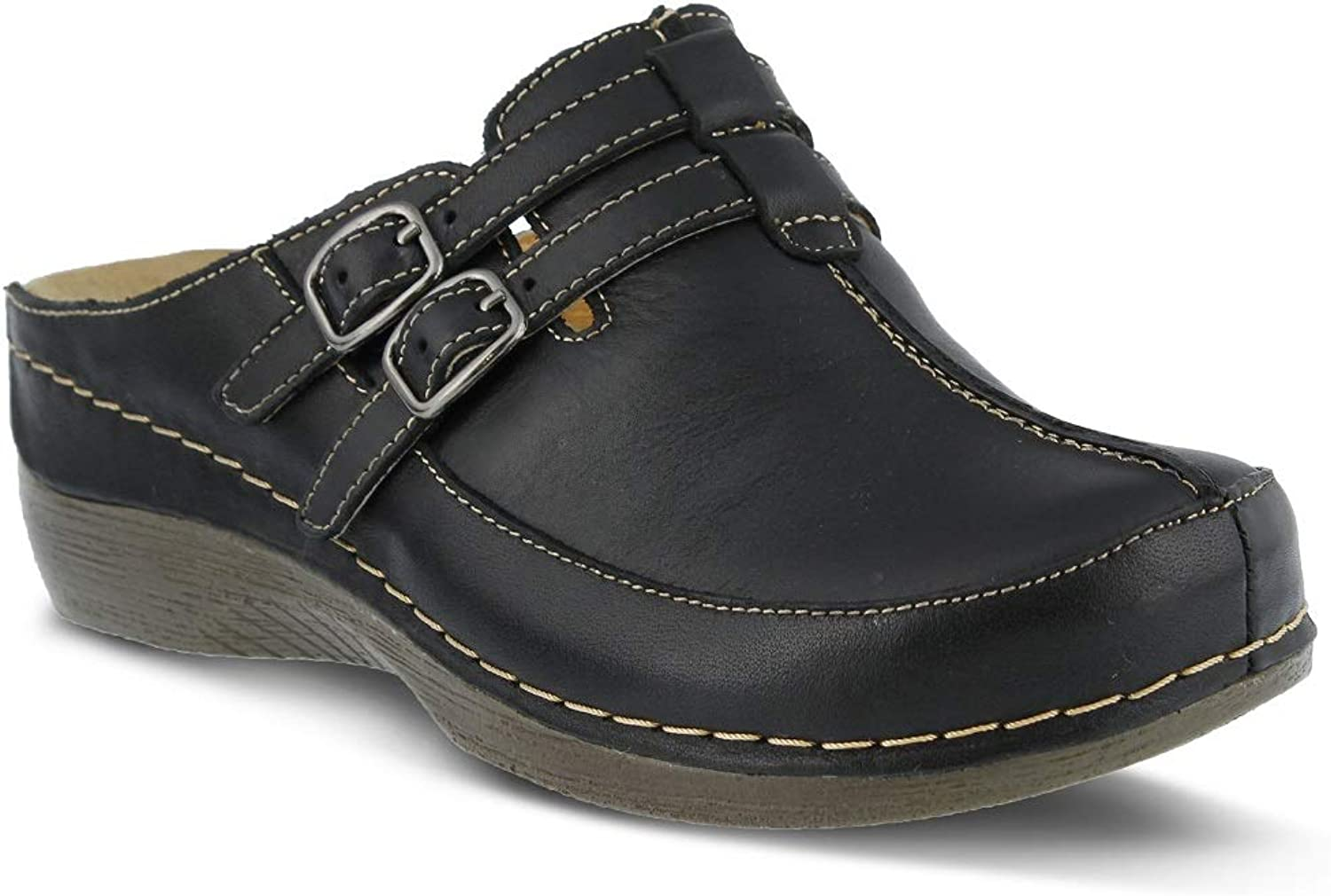 Spring Step Women's Happy Clog & Mules   color Black   Leather Clog & Mules