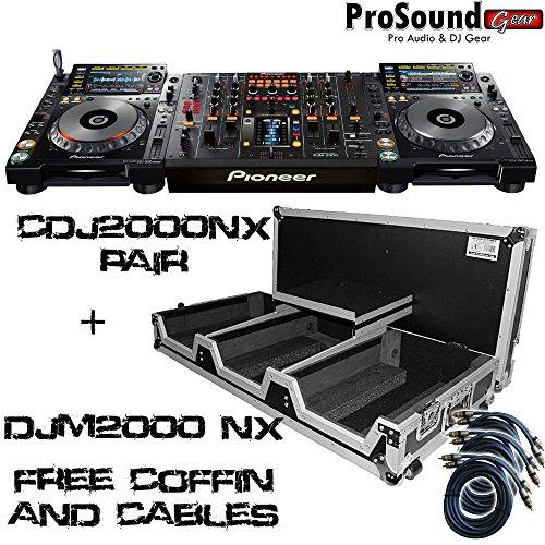 Best Price! Pioneer CDJ2000NXS Nexus + DJM2000NXS Professional DJ System + Free ProXcases Coffin and...