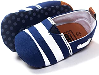 Ecosin Baby Blue Stripe Sneaker Anti-slip Soft Sole Toddler Prewalker (6-12months)