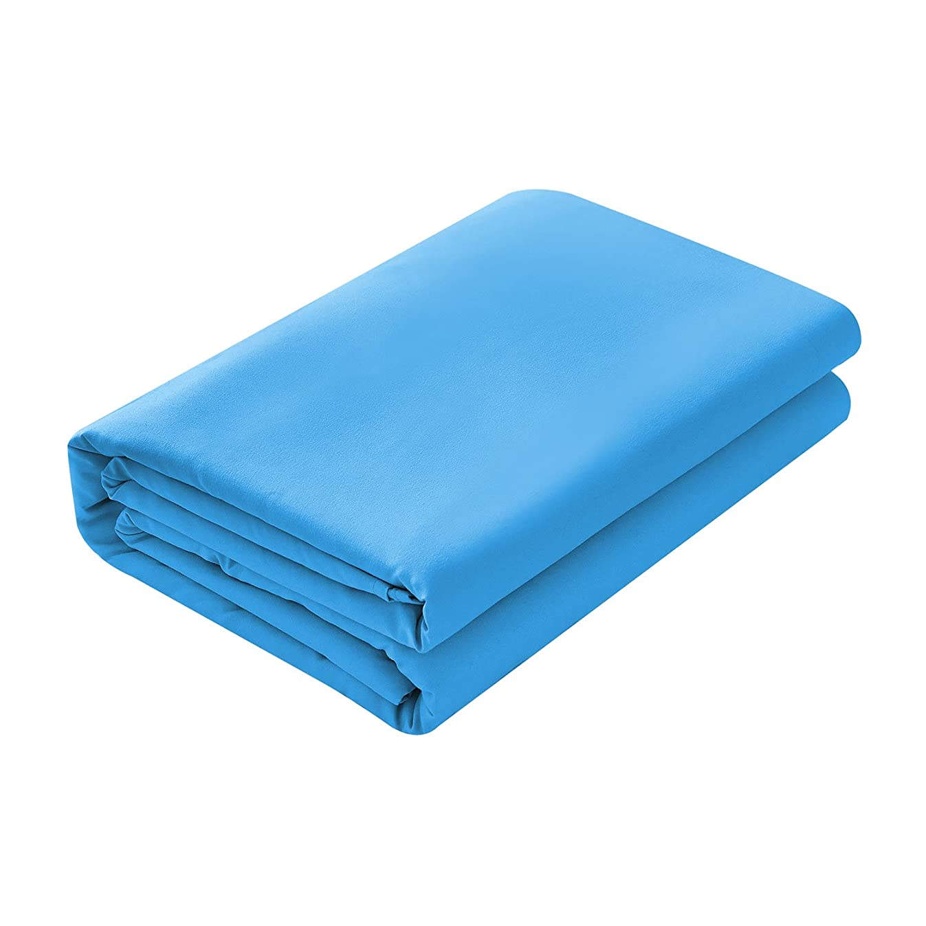 Basic Choice Flat Sheet, Breathable, Extra Soft Microfiber 2000 Bedding Top Sheet - Wrinkle, Fade, Stain Resistant - Hypoallergenic - (Blue, Twin)