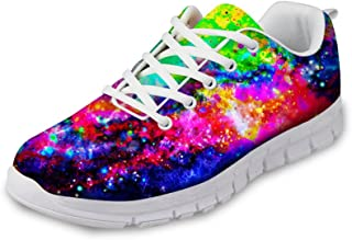FOR U DESIGNS Casual Fashion Galaxy Painted Breathable Summer Running Sneakers for Men Women