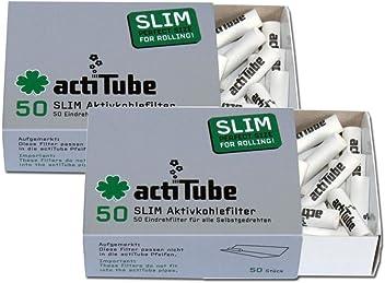 actitube slim filtre au CARBONE ACTIF 8x50 pi/èce 400 filtre