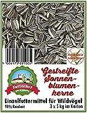 Futterhof gestreifte Sonnenblumenkerne 3 x 5 kg = 15 kg, GRATIS Versand mit DHL
