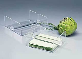 Luncheon Napkin Holder with Rod - Elegant Clear Acrylic - Made in the USA