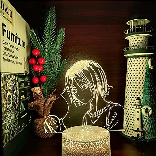 Lámpara De Ilusión 3D Luz De Noche Led Haikyuu Kozume Kenma Anime7 Cambio De Color Hogar Dormitorio Mesita De Noche Decoración Lámpara De Mesa Regalo Para Niños