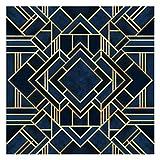Bilderwelten Papel Pintado Adhesivo - Art Deco Gold - Mural Cuadrado, Tamaño:192 x...