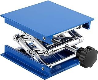 TOPINCN Soporte Plataforma Elevación Laboratorio Resistencia Corrosión Ajustable Rack Tijera Aluminio Galvanizado Azul Elevador Tijera 100 x 100 mm