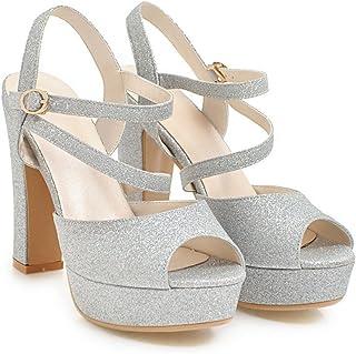 De Amazon MujerY Para Tacón Zapatos esCaucho q4RcA5jL3