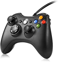 KEWEIS Xbox 360 Wired Game Controller Gamepad USB Wired Buttons Improved Ergonomic Design Joypad Gamepad Controller for Microsoft Xbox & Slim 360 PC, Window 7, 8, 10, XP (Black)