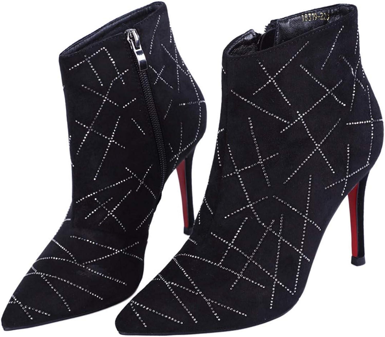 KOKQSX-Damen - Stiefel modisch warm Wildleder Joker Stiefeletten Stiefeletten Stiefeletten modische Martin Stiefel.  c0345d