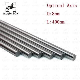 AiCheaX - 4pcs/lot Optical Axis OD 8mm x 400mm Cylinder Liner Rail Linear Shaft Chrome for 3D Printer Parts & CNC