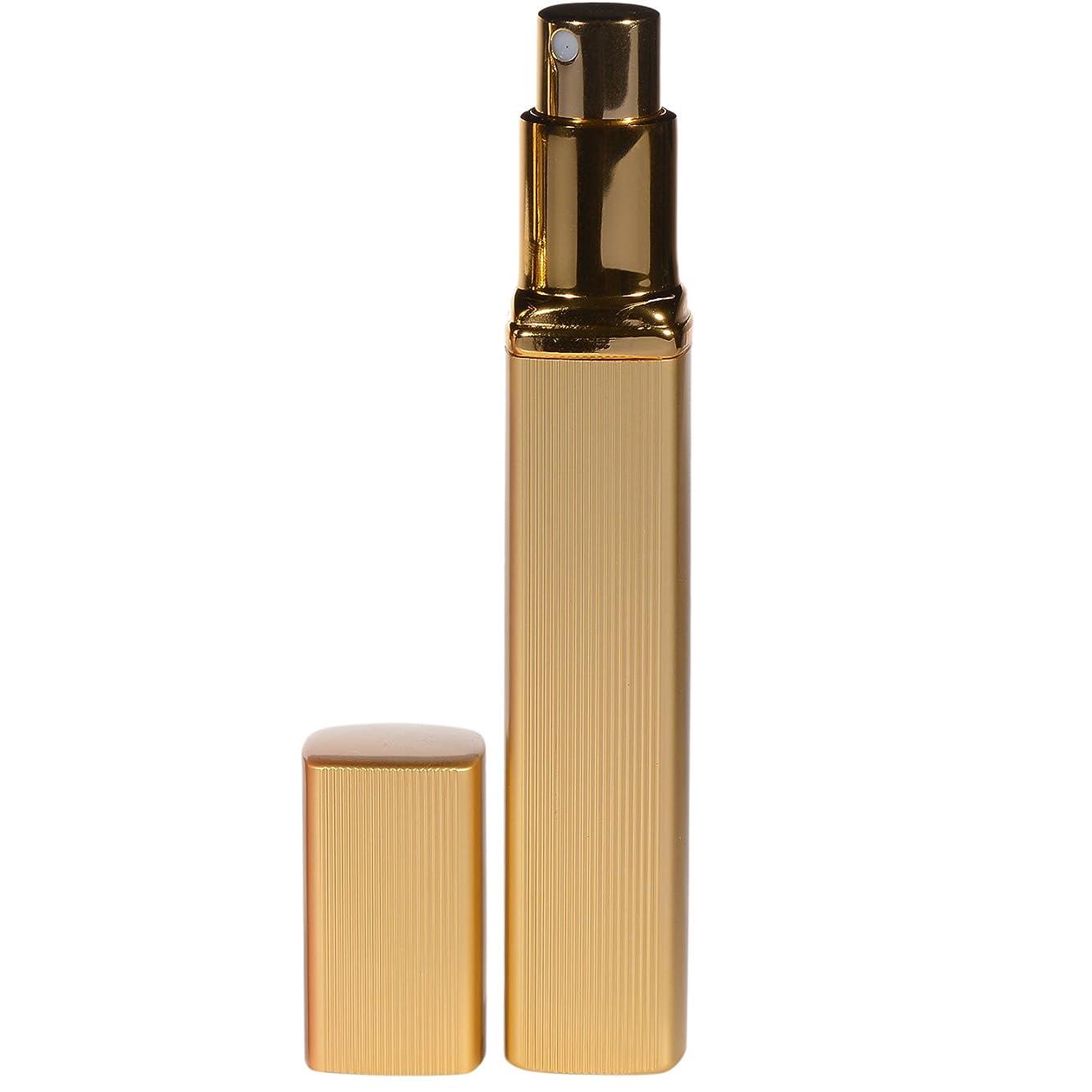 プレゼン物質スカープ大人香るアトマイザー  男女兼用 メンズ レディース かわいい ロート付き アトマイザー 香水瓶 噴霧器 香水吹き 詰め替え 12ml (1個, ゴールド)