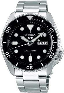 Seiko Black Men's Analogue Automatic Watch with Stainless Steel Strap SRPD55K1