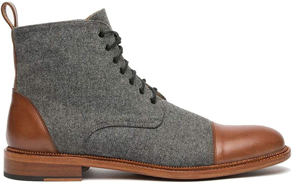 TAFT Jack Boot Handcrafted Leather Dress Boo Sale special price Wool and Men's Selling selling