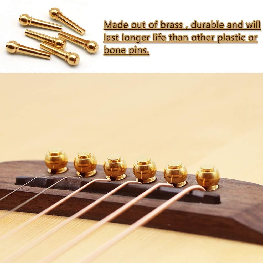 2Pcs Enrollador de Cuerdas y 6Pcs Pin de Puente para Guitarra ...
