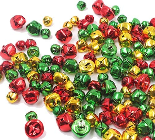 Goldenvalueable Christmas Jingle Bells 200 PCS in Various Size product image