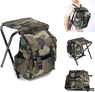 camping maison et sortie plage id/éal pour la p/êche Hjuns/® Tabouret Chaise de camping pliant avec sac /à dos isotherme tissu Oxford Sac isotherme